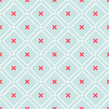 Cute retro abstract heart seamless pattern. Can be used for wallpaper, cover fills, web page background, surface textures. Pink, b Royalty Free Stock Images
