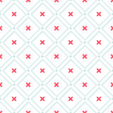 Cute retro abstract heart seamless pattern. Can be used for wallpaper, cover fills, web page background, surface textures. Pink, b Stock Photo