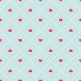 Cute retro abstract heart seamless pattern. Can be used for wallpaper, cover fills, web page background, surface textures. Pink, b Royalty Free Stock Photo