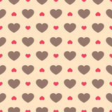 Cute retro abstract seamless pattern. Can be used for wallpaper, cover fills, web page background, surface textures. Pink, broun a Stock Photography