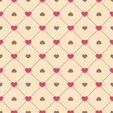 Cute retro abstract seamless pattern. Can be used for wallpaper, cover fills, web page background, surface textures. Pink, broun a Royalty Free Stock Image