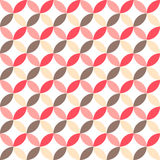 Cute retro abstract seamless pattern. Can be used for wallpaper, cover fills, web page background, surface textures. Pink, broun a Stock Images