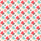 Cute retro abstract seamless pattern.Perfect for decoration postcards, brochures, textiles or paper packaging. Royalty Free Stock Image