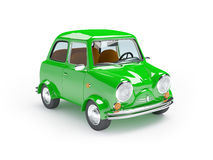 Cute retro car green Royalty Free Stock Photography