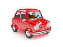 Cute retro car red Stock Photo
