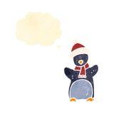 Cute retro cartoon penguin Stock Image