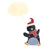Cute retro cartoon penguin Stock Photography