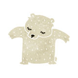 Cute retro cartoon polar bear Stock Photography