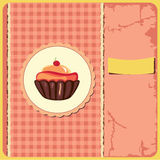 Cute retro cupcake Royalty Free Stock Photography