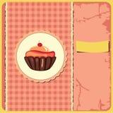 Cute retro cupcake Royalty Free Stock Photography
