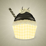 Cute retro cupcake Royalty Free Stock Photo