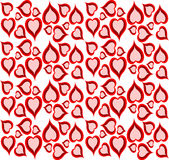 Cute retro design background of hearts Stock Photo