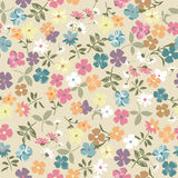 Cute retro ditsy background Stock Images