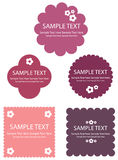 Cute retro frame Designs. Collection of many cute retro frames, . (EPS8 file included Royalty Free Stock Photo
