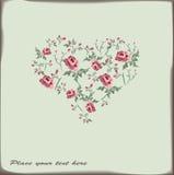 Cute retro heart Royalty Free Stock Photography
