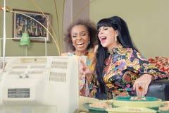 Cute Retro Ladies Laughing Stock Image