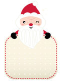 Cute retro Santa greeting Royalty Free Stock Images