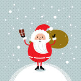 Cute retro Santa Royalty Free Stock Photo