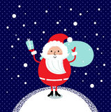 Cute retro Santa Royalty Free Stock Photography
