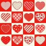 Cute retro seamless Valentines Day pattern with hearts Royalty Free Stock Photo