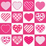 Cute retro seamless Valentines Day pattern with hearts Stock Image