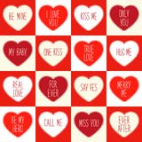 Cute retro seamless Valentines Day pattern with hearts Royalty Free Stock Photography