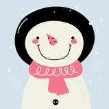 Cute retro Snowman Stock Photo