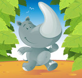 Cute Rhino Royalty Free Stock Images