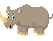 Cute Rhino cartoon Stock Image