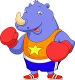 Cute rhino cartoon Stock Photo