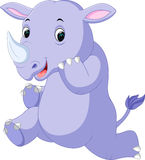 Cute rhino cartoon Royalty Free Stock Photography