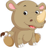 Cute rhino cartoon Royalty Free Stock Photos