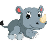 Cute rhino Cartoon. Illustration of cute rhino Cartoon royalty free illustration