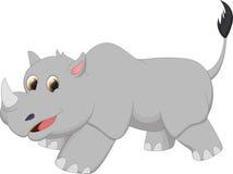 Cute rhino cartoon Royalty Free Stock Photos