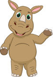 Cute rhino cartoon Stock Photography