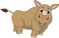 Cute rhino cartoon Stock Photos