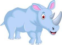 Cute rhino cartoon run Royalty Free Stock Photo