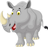 Cute rhino cartoon smiling Stock Image