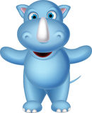 Cute rhino cartoon for you design Stock Photography