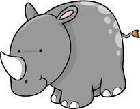 Cute Rhino Vector. Cute Safari Rhino Vector Illustration Stock Image