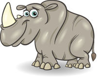 Cute rhinoceros cartoon illustration Royalty Free Stock Photo