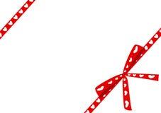 Cute ribbon with hearts Stock Photo