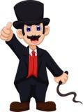 Cute Ringmaster cartoon thumb up Royalty Free Stock Image