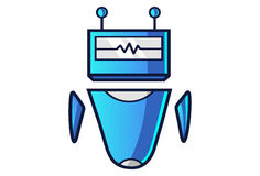Cute Robot with angry expressions. Royalty Free Stock Images
