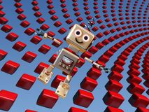 Cute robot background Royalty Free Stock Photos