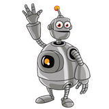 Cute Robot Cartoon Stock Image