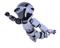 Cute robot cyborg Stock Image
