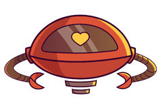 Cute Robot displaying heart. ❤. Vector Illustration. Isolated on white background Stock Image
