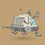 Cute robot doodle drawing Royalty Free Stock Image
