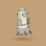 Cute robot doodle drawing Stock Photography